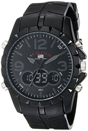 U.S. Polo Assn. Sport Mens US9058 Black Analog-Digital Watch