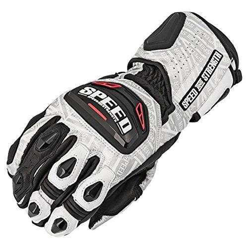 Speed and Strength Twist of Fate 3.0 Men's Race Leather Gloves (White, XX-Large)
