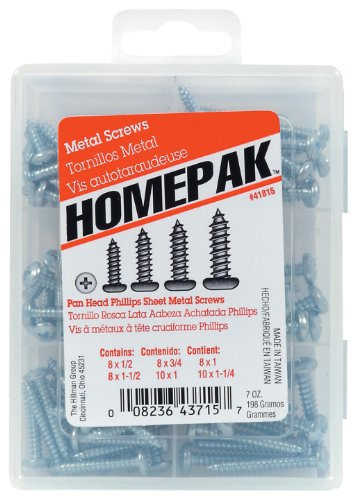 HOMEPAK 41815 Pan Head Phillips Sheet Metal Screws