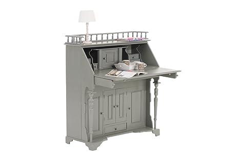 CLP-Nancy Mogano legno ufficio coloniale classico (scelta di 9colori) Grey