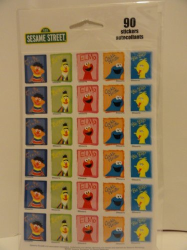 Sesame Street Stickers 90 Count