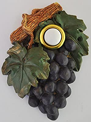Grape Front Door Decor Decorative Doorbell Cover Hand Painted