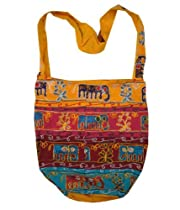 Handcrafted Embroidered Elephants Bohemian / Hippie / Gypsy Crossbody Bag India