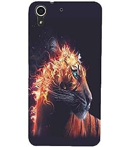 PRINTSWAG FIRE TIGER Designer Back Cover Case for HTC DESIRE 728