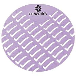 Hospeco Airworks AWUS008-BX Urinal Deodorizer Screen Clean Cotton Light Purple (Box of 10)