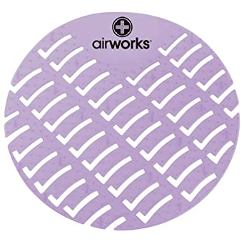 Hospeco Airworks AWUS008 Urinal Deodorizer Screen Clean Cotton Light Purple (6 Boxes of 10)