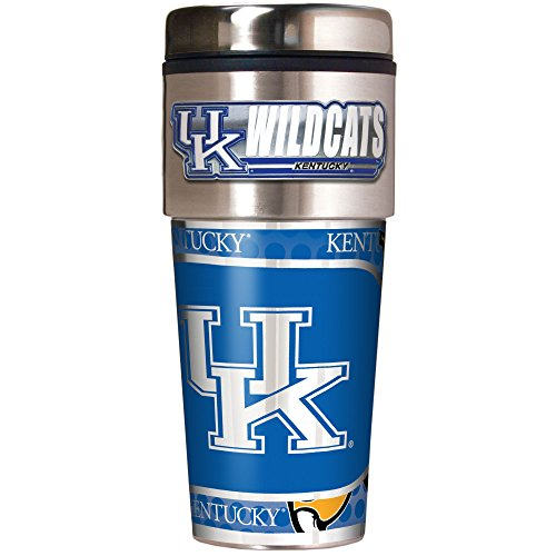 NCAA-Kentucky-Wildcats-Metallic-Travel-Tumbler-16-Ounce