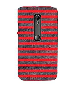Red Lines Pattern 3D Hard Polycarbonate Designer Back Case Cover for Motorola Moto G3 :: Motorola Moto G (3rd Gen) :: Motorola Moto G (Gen 3) :: Motorola Moto G Dual SIM (3rd Gen) :: Motorola Moto G3 Dual SIM
