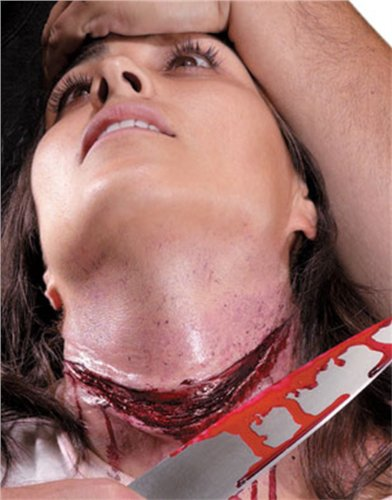 Bloody Knife Wound Latex Theater Quality Costume Makeup