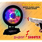 Laser Target Infrared Gun Toy, Music And Lights, Shooting Game For Kids