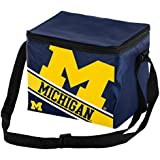 "NCAA Michigan Wolverines  Big Logo Stripe Cooler (6 Pack), 9"" X 6"" X 7"""