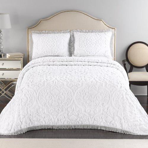 Lamont Home Layla Pillow Sham, Standard, White/White front-1015016