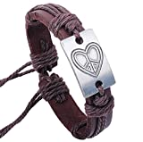 Amyra Lifestyle Genuine Leather Bracelet (Heart)