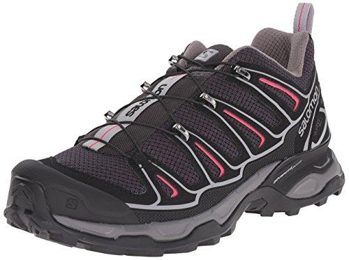 Salomon Women's X Ultra 2 W Hiking Shoe, Asphalt/Black/Hot Pink, 7.5 B US (X Hot compare prices)