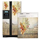 Appliance Art Tuscan Grapes Refrigerator and Dishwasher Combo Magnet (SXS) Cover ~ Appliance Art