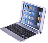 Hausbell ® H10 Ultra-thin Aluminum Bluetooth Keyboard Case Cover with Stand for iPad Mini - Auto Wake / Sleep Feature(close to sleep , open to wake up)