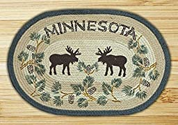 Capitol Importing Earth Rugs-Minnesota Pinecone & Moose 20\