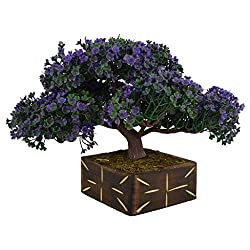 Thefancymart Artificial Bonsai Tree plant with Wood Pot (10 inchs/ 25 cms) ( Code-640 )