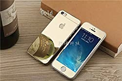 APPLE I PHONE 5S DUAL SIDE GOLD COLOUR PREMIUM QUALITY TEMPERED GLASS SCREEN PROTECTOR