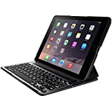 Belkin QODE Ultimate Pro V3 Lightweight Aluminium Keyboard Case for iPad Air 2 with Autowake, Backlit Keys, Removable Cover, 12 Months Battery Life - Black/Silver