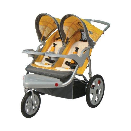InStep Grand Safari Swivel Wheel Double Jogger, Yellow ...