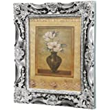 """Budget 3D French Baroque Gild Style Photo Frame, 10"""" x 12"""", Available in 3 Colours (Silver Gild)"""