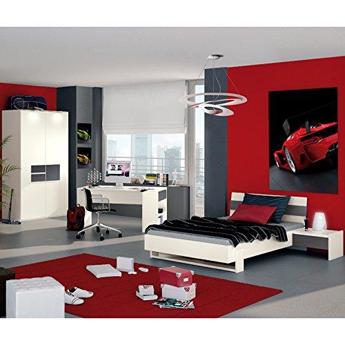 Jugendzimmer Set HOMEROOM113 weiß, anthrazit online bestellen