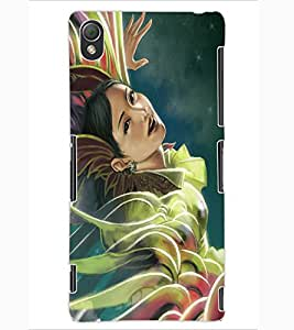 ColourCraft Beautiful Girl Design Back Case Cover for SONY XPERIA Z3
