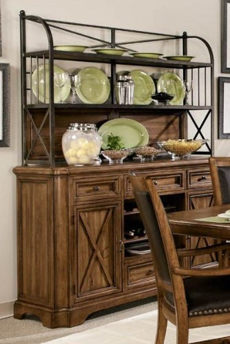 Picture of A.R.T. Furniture Sideboard w/ Metal Deck - Medium Oak (77246-1503R) (77246-1503R) (Sideboards)