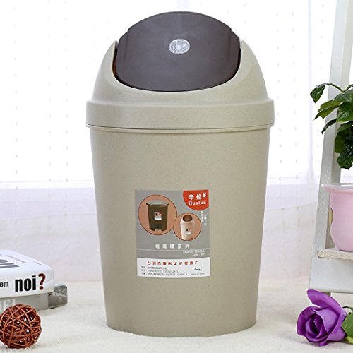 ZYQYJGF Trash Creativi Possono Onda Copertina Ufficio Cestini Plastica Riciclaggio Ricettacolo