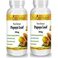 Natures Velvet Combo Of Papaya Leaf Extract( 500mg), 60 Veg Capsules