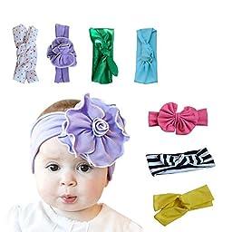 Baby Headbands Baby Girl Headbands Headwraps Mixed Styles (7pcs)