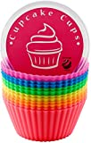 Globally Good® Silicone Baking Cups / Muffin Molds - 12 Reusable Cupcake Liners in Storage Container