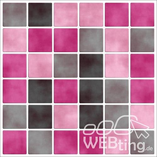 mosa que rose autocollants stickers pour carrelage image imitation autocollant pour salle de. Black Bedroom Furniture Sets. Home Design Ideas