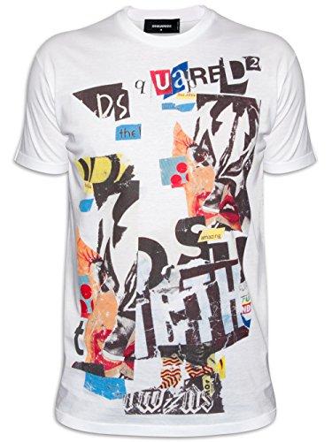 DSQUARED2 Retro White Graphic Crew Neck T-Shirt Medium
