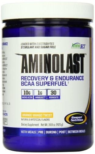 Gaspari Nutrition Amino Last Fitness Powder, Orange Mango Twist, 420 Gram