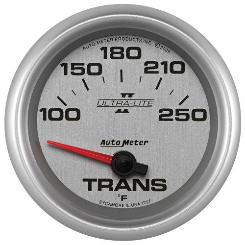 "Auto Meter 7757 Ultra-Lite Pro Ii 2-5/8"" 100-250 F Short Sweep Electric Transmission Temperature Gauge"