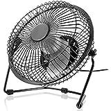 CSL - ventilateur USB | ventilateur de bureau / Fan | cadre /hélice en métal | ordinateur / Notebook | couleur: noir