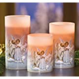 Kissing Angels Flameless Candles - Set Of 3