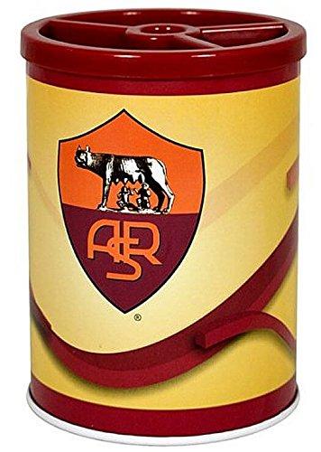 as-roma-fc-multi-pen-pencil-holder-desk-office-school-stationary-orange