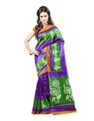 Kajal Sarees Women's Art Silk Self Print Saree (PS_235)