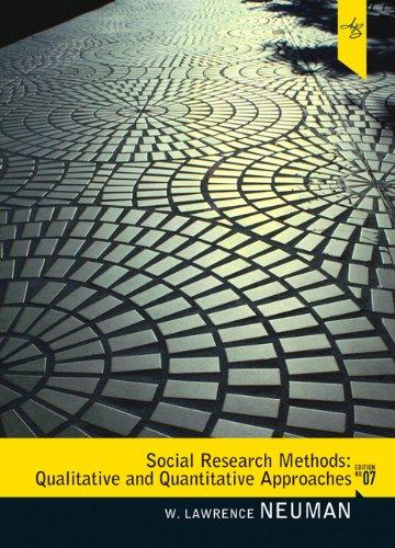 Social Research Methods: Qualitative and Quantitative...