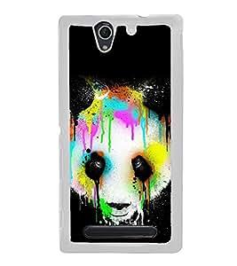 Colourful Panda 2D Hard Polycarbonate Designer Back Case Cover for Sony Xperia C4 Dual :: Sony Xperia C4 Dual E5333 E5343 E5363