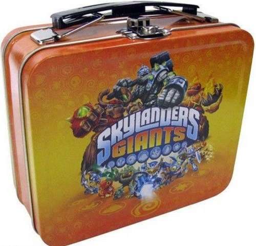 Skylanders Giants Small Lunch Box Tin Can use for Snacks, Cards, Collectibles