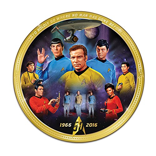 Star Trek 50th Anniversary Commemorative Porcelain Collector Plate