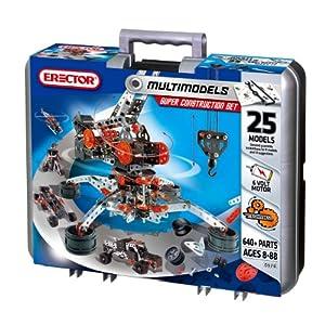 Erector Super Construction Set - 25 Models - 640+ Parts