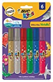 BiC Kids Glitter Glue Metallic Colours Pack of 6