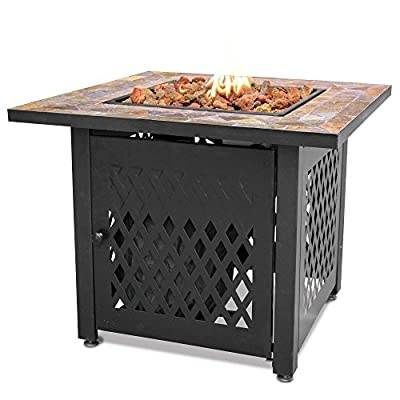 Uniflame Endless Summer Lp Gas Fire Pit With Slate Tile Mantel By Uniflame from UniFlame