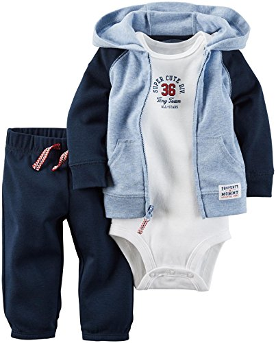 Carter's Baby Boys 3 Pc Sets 126g289, Navy, 12 Months