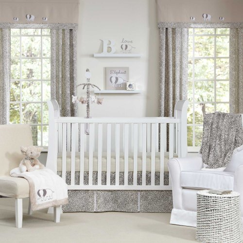 Sweet Safari 5 Piece Baby Crib Bedding Set by Wendy Bellissimo - 1